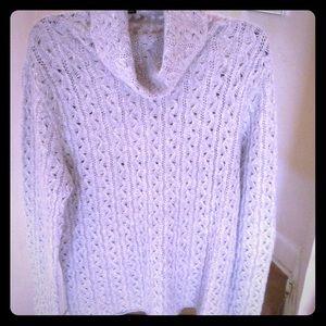 Saks Fifth Avenue Sz L gray Cashmere Sweater